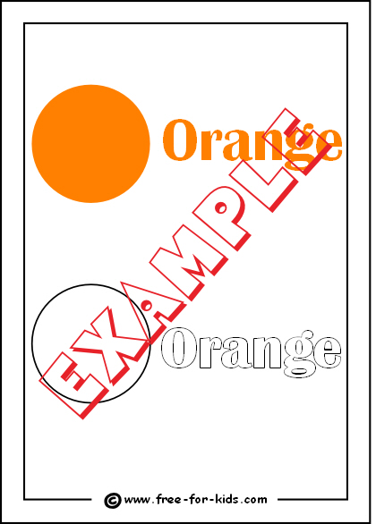 Preview of Printable Colour Orange Worksheet