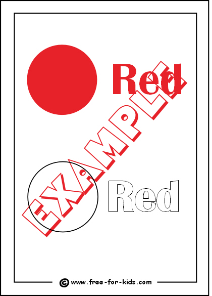 Preview of Printable Colour Red Worksheet