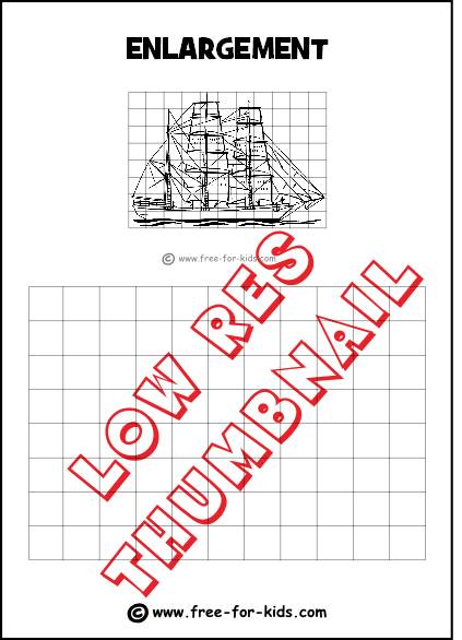 Preview of Enlargement Practice Drawing Grid with Sailing Ship
