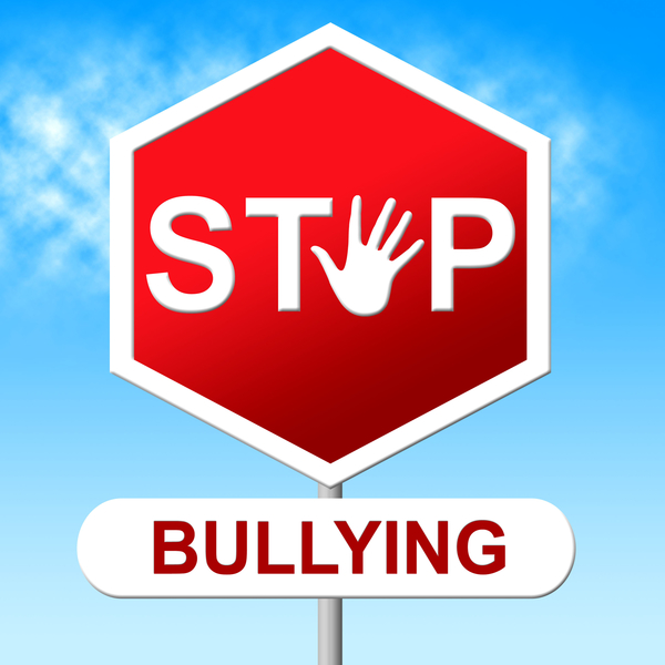 Stop sign that reads stop bullying