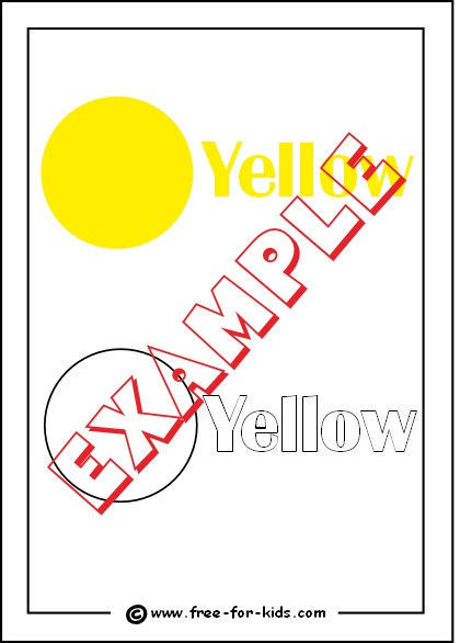 Preview of Printable Colour Yellow Worksheet