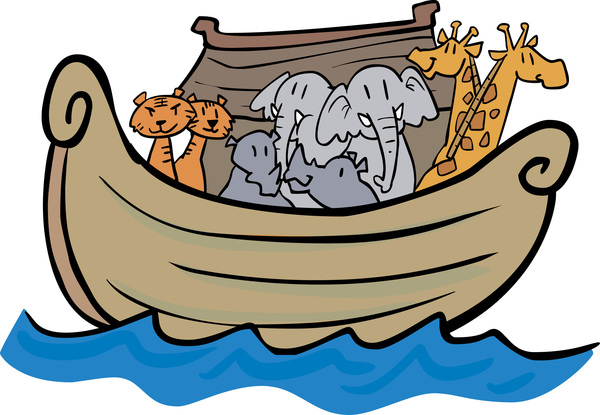 noahs ark with animals in pairs