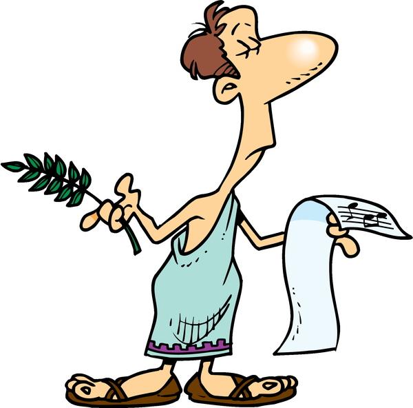 roman in a toga