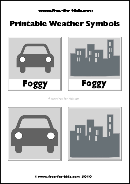 Preview Image of Printable Weather Symbols for a Foggy Day