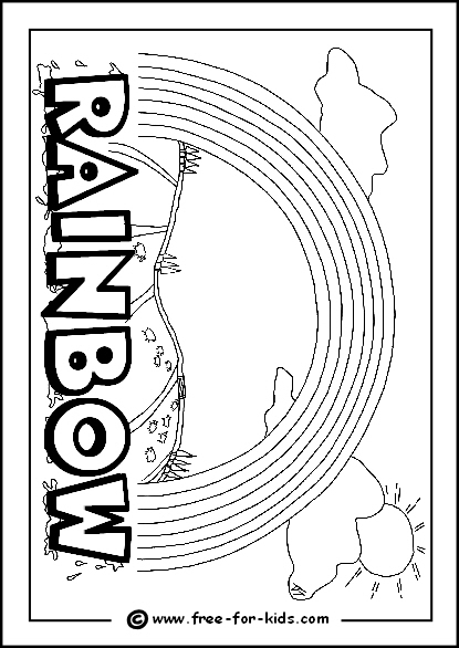 Preview Image of Printable Rainbow Colouring Page