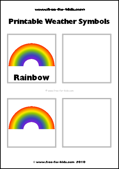 Preview Image of Printable Weather Symbols for a Rainbow