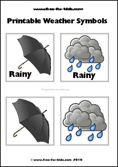 Preview Image of Printable Weather Symbols for a Rainy Day