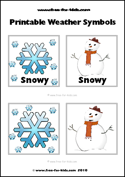 Preview Image of Printable Weather Symbols for a Snowy Day
