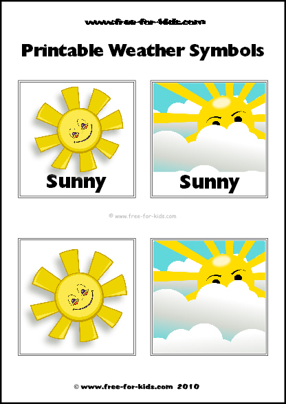 Preview Image of Printable Weather Symbols for a Sunny Day