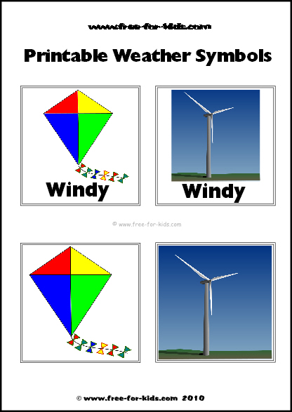 Preview Image of Printable Weather Symbols for a Windy Day