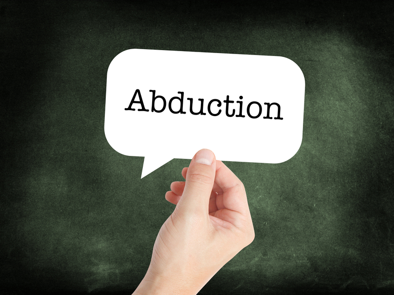 speech bubble with the word abduction