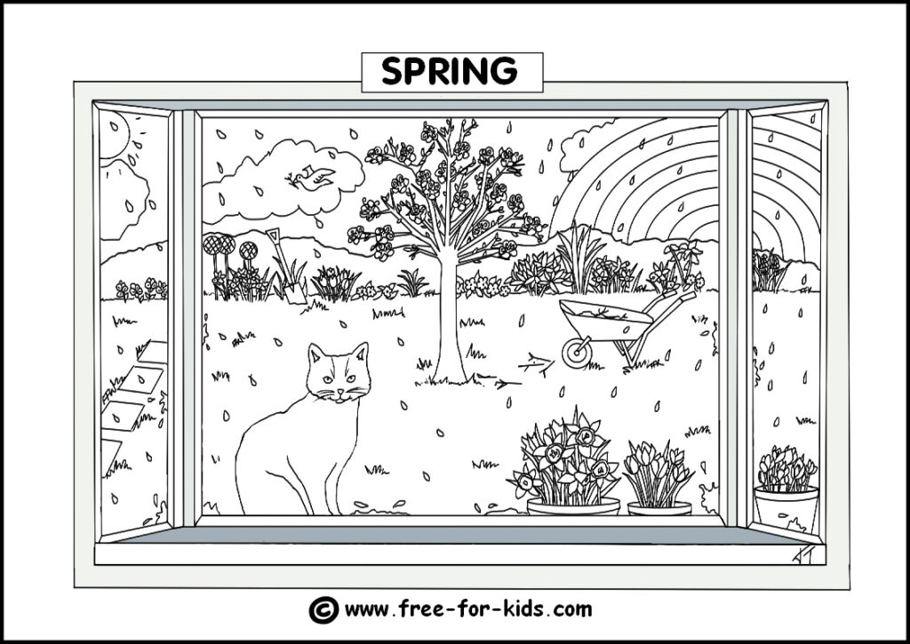 Preview Image of Printable Spring Season Colouring Page