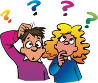 image of a boy and girl with question marks above their head
