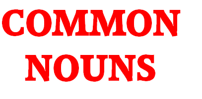 page logo that reads common nouns
