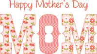 happy mothers day message logo