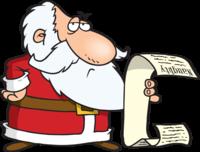 image of santa checking his naughty and nice list
