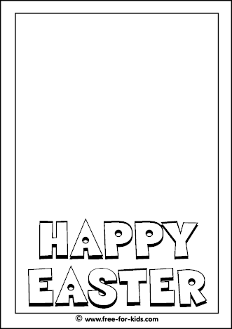 Preview image of blank Easter Colouring Page