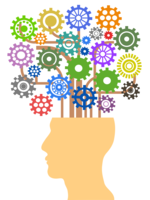 Image of brain cogs whirring solving a brain teaser puzzle